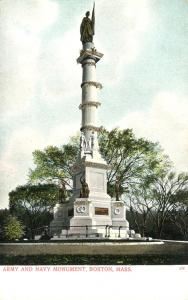 Army and Navy Monument - Boston MA, Massachusetts - UDB