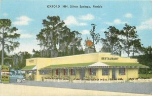 Oxford Inn Silver Springs Florida Postcard 1940s roadside Kropp linen 20-2610