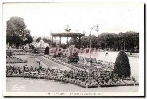 Old Postcard Angers jadin A corner of the mall