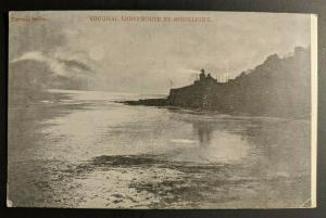 Vintage Youghal Lighthouse by Moonlight Ireland Real Picture Postcard Cover