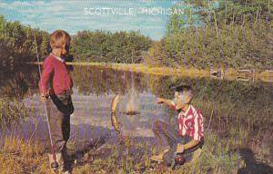 Michigan Scottville Young Boys Fishing