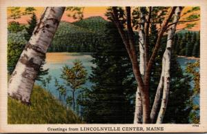 Maine Greetings From Lincolnville Center 1946