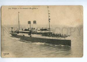 190556 FRANCE DIEPPE ship BRIGHTON Vintage postcard