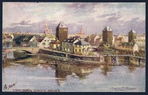 Strasburg Covered Bridge Mecklenburg Feldpost used c1916