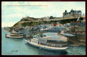 dc1458 - QUEBEC CITY Postcard 1910s Chateau Frontenac Citadel Steamer LAUZON