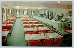 Postcard PA Gettysburg Glenn's Diner Interior View Lincoln Highway Rt 30 M17