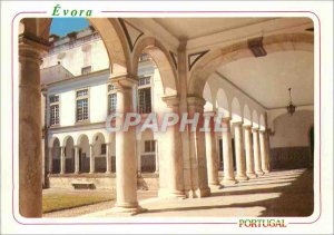 Postcard Modern Evora Portugal Cloister and Facade of the Old University (XVI...