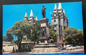 Pioneer Monument Salt Lake City Utah Vintage Postcard