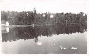Ellsworth Michigan~Sloan's Have Nice Spot on Wilson Lake~Reflections~1959 RPPC