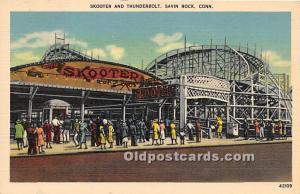 Savin Rock, Connecticut, CT, USA Postcard Skooter and Thunderbolt Unused