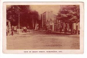 View of Brant Street, Model T Car, Burlington, Ontario, B S Hicks Sepia