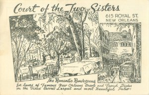 New Orleans, LA Court of the Two Sisters 615 Royal St Postcard