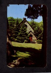 NY Silver Bay Association New York Lake George Helen Hughes Chapel Postcard
