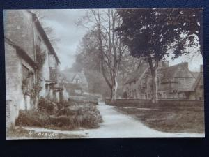 Gloucestershire BIBURY Village - Old RP Postcard by W.A. Call of Monmouth