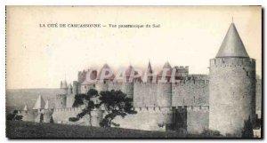 Old Postcard La Cite Carcassonne Panoramic South