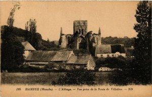 CPA  Hambye - L'Abbaye - Vue prise de la Route de Villedieu  (633059)