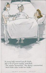 Vintage Humour Arcade Card Doctor and Nurse Operating On Woman