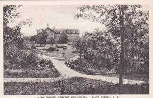New York Saint Joseph View Toward Convent And Chapel Albertype