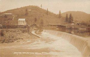 LPS90 Southern Oregon Gold Ray Dam Mining  Mine  Postcard RPPC