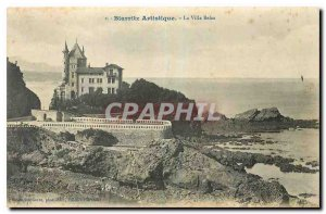 Old postcard Biarritz Artistic Villa Belza