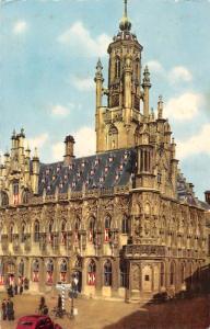 Netherlands Zeeland Townhall Middelburg Stadhuis Rathaus Vintage Car Auto