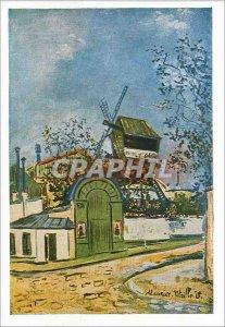 Modern Postcard Maurice Utrillo Le Moulin de la Galette