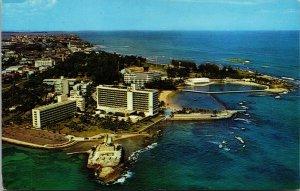 Vtg Historic Fort Germonimo Caribe Hilton Hotel San Juan Puerto Rico Postcard