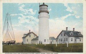 NORTH TRURO , Cape Cod , Mass. , 1918 ; LIGHTHOUSE & Wireless Station