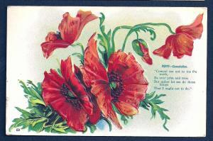Poppies & Poem used c1910