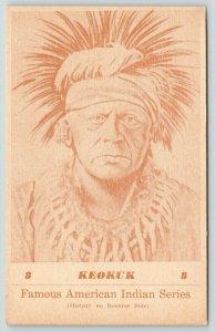 Sauk Indian Leader Keokuk of Iowa~Namesake of City~Bone Necklace*~History~1941