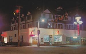 Night view,  The Kalamalka Hotel,  Vernon,  B.C.,  Canada,   40-60s