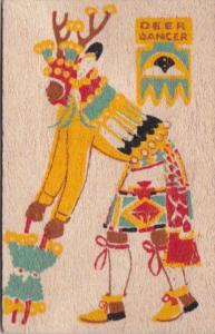 Pueblo Indian Deer Dancer Yucca Veneer Card