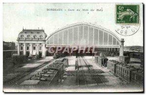 Bordeaux - Gare du Midi - The Hall - train - Old Postcard