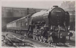 The Queen Of Scots Train 60534  Antique British Railways Real Photo Postcard