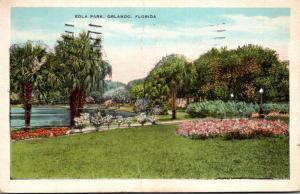 Florida Orlando View Of Lake Eola 1932