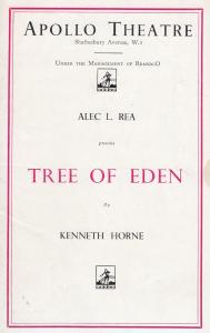 Tree Of Eden Comedy Barbara Everest Apollo London Theatre Programme