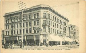 c1905 Boise Idaho Overland Building Myers Albertype Columbia Theatre Postcard