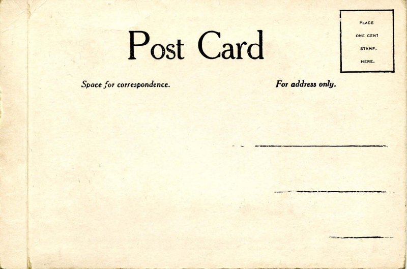 VERY RARE! Magic Moving Picture Post Card, ca. 1907. It works!