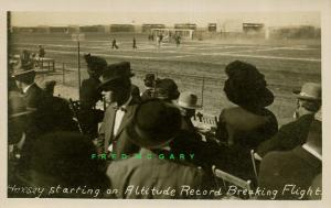 1912 Dominguez Field California RPPC: Hoxsey Starts Record-Breaking Flight