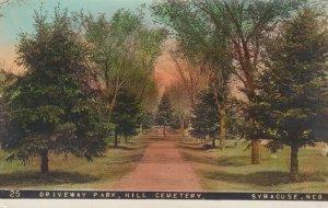 RP: SYRACUSE , Nebraska , 1900-10s ; Driveway Park , Hill Cemetery
