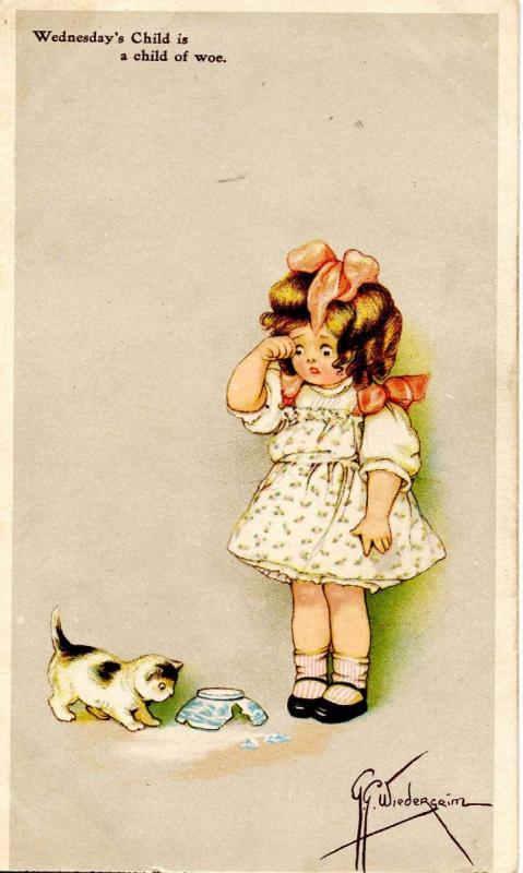 Wednesday's  Child     Artist Signed: G.G.Wiederseim