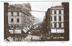 Glasgow Scotland Argyle Street Trolley Store Fronts Real Photo RPPC Postcard