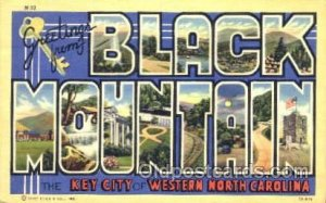 Greetings From Black mountain, North Carolina, USA Large Letter Town Unused v...