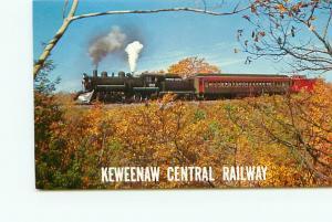 Postcard Michigan Calumet Keweenaw Central Railway Fil 34 Locomotive   # 3142A
