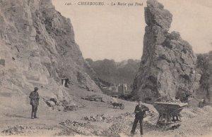 CHERBOURG, France,1900-10s , La Roche qui Pend