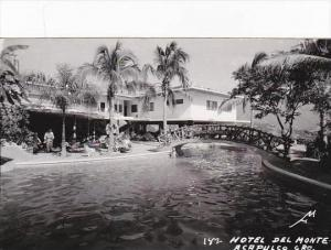 Mexico Acapulco Hotel Del Monte Swimming Pool Real Photo RPPC