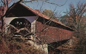 Covered Bridge at Lyme, New Hampshire, NH, Chrome Vintage Postcard g8512