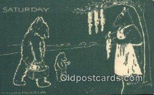 Saturday D Hillson Days of the Week, Bear Postcard Bears, tragen postkarten, ...