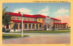 Officers' Club, Infantry School, Ft. Benning, Georgia, early Postcard, Unused