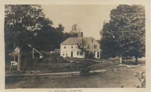 Whittier Birthplace, Haverhill, Massachusetts, Early Real Photo Postcard, unused